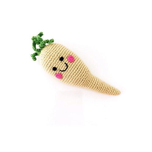 Pebble - Friendly vegetable parsnip rattle