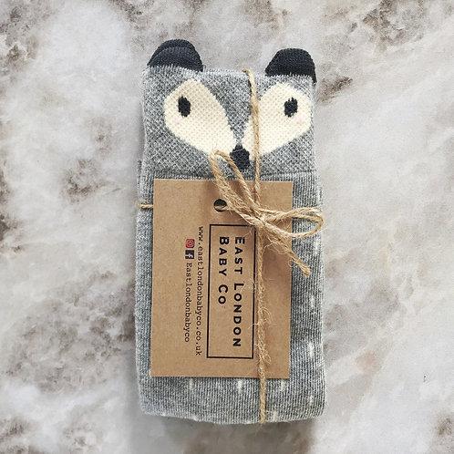 East London Baby Co - Foxy Socks - Grey