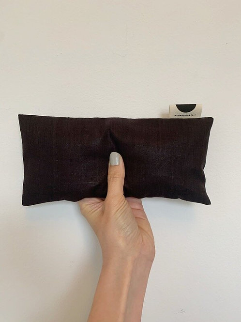 A Conscious Edit - Meditation Eye Pillow - Raw Satin Silk - Plum/Black