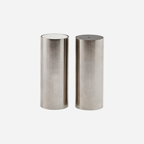 House Doctor - Salt and pepper set, Tall, Brushed Silver