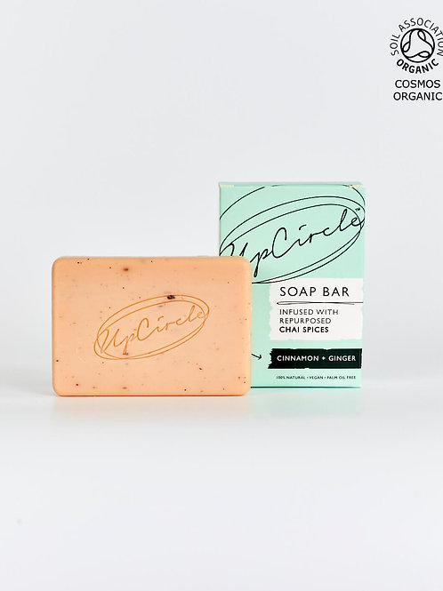 UpCircle - Organic Cinnamon & Ginger Chai Soap Bar 100g