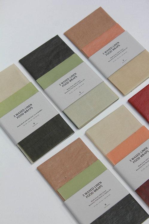 Wax Atelier - 3 Waxed Linen Food Wraps
