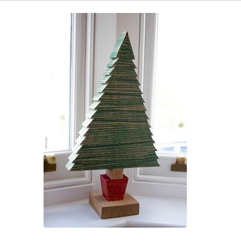 Handmade Wooden Christmas Tree -Oak