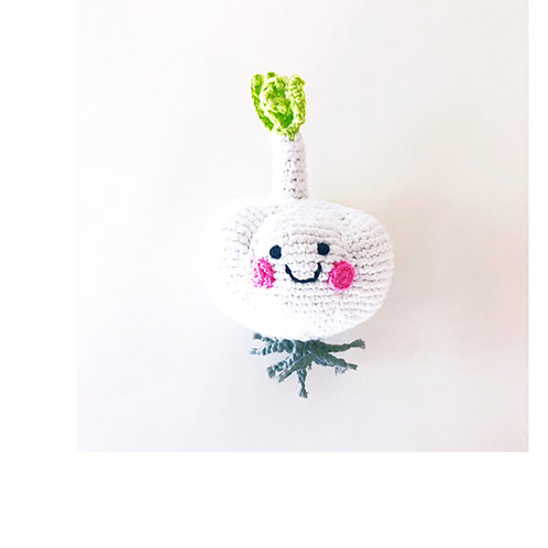 Pebble - Friendly vegetable garlic rattle