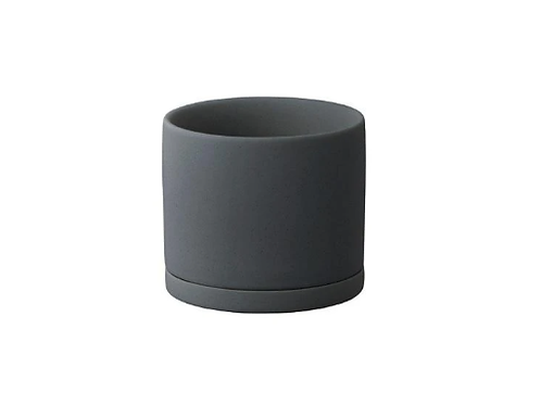 Kinto - PLANT POT 191_ 85mm dark gray