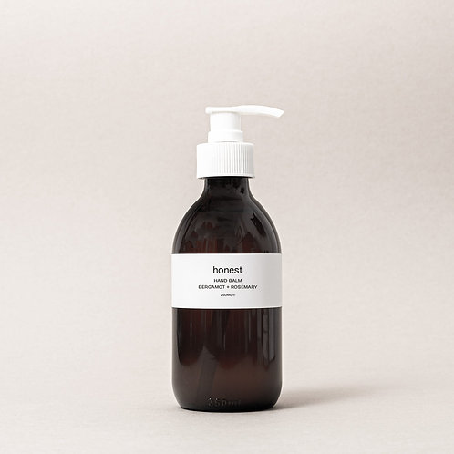 Honest skincare - Bergamot + Rosemary Handbalm 250ml