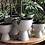 Thumbnail: HK Living - metal flower pot on base rustic white M