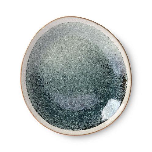 HK Living - ceramic 70's side plate: mist