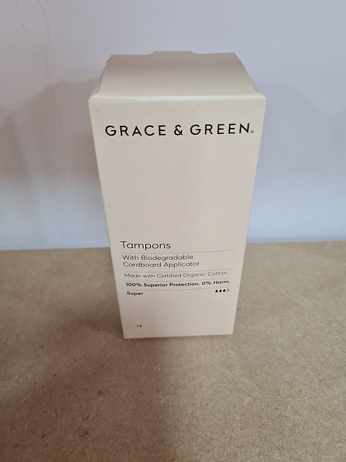 Grace and Green - Organic Tampons With Applicator, Super