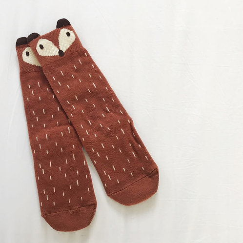 East London Baby Co - Foxy Socks - Brown