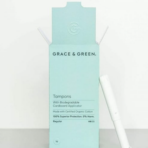 Grace and Green - Organic Tampons With Applicator, Regular