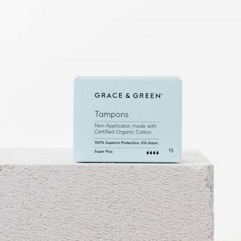 Grace and Green - Organic Non-Applicator Tampons Super Plus