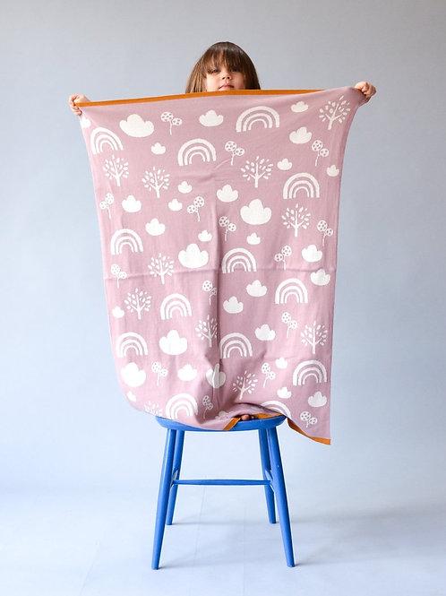Sophie Home - Pink Rainbow Blanket