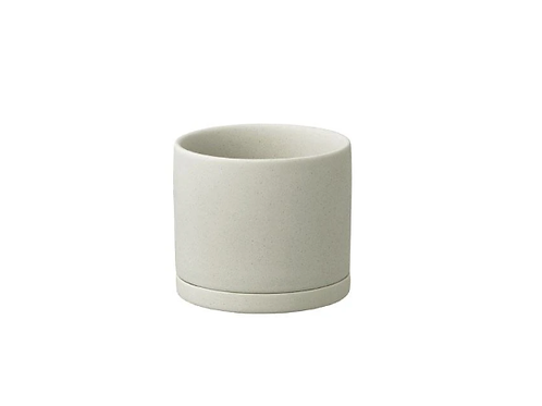 Kinto - PLANT POT 191_ 85mm earth gray