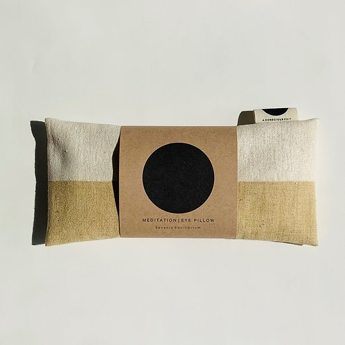 A Conscious Edit - Meditation Eye Pillow - Raw Silk Cream/Natural