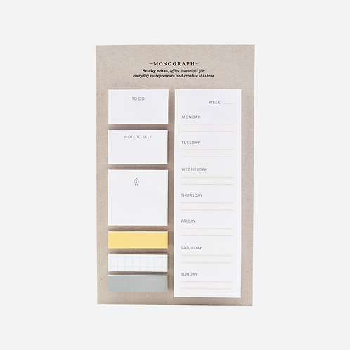 Monograph - Sticky notes, White