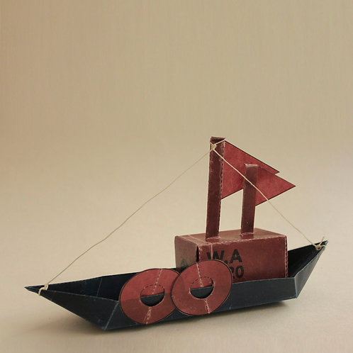 Wax Atelier - Waxed Paper Cargo Boat Origami Kit