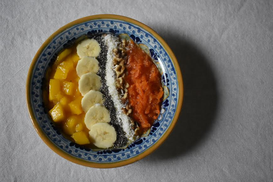 mango & carrot compote yogurt