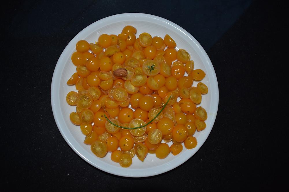 roasted cherry tomatoes & scrambled eggs