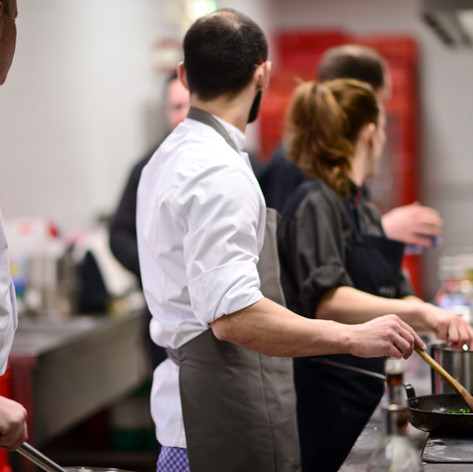 Köche in der Stadion Küche
