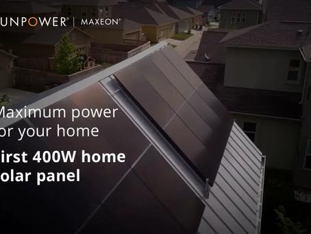 SunPower pakt uit met 400 Wp.-paneel