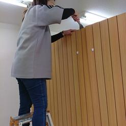 間仕切り壁の撤去作業