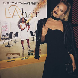 Last night at the premiere of #LAHair wi