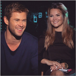 All #smiles with #ChrisHemsworth today!