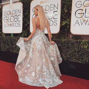 Ine Back Iversen Golden Globe Red Carpet