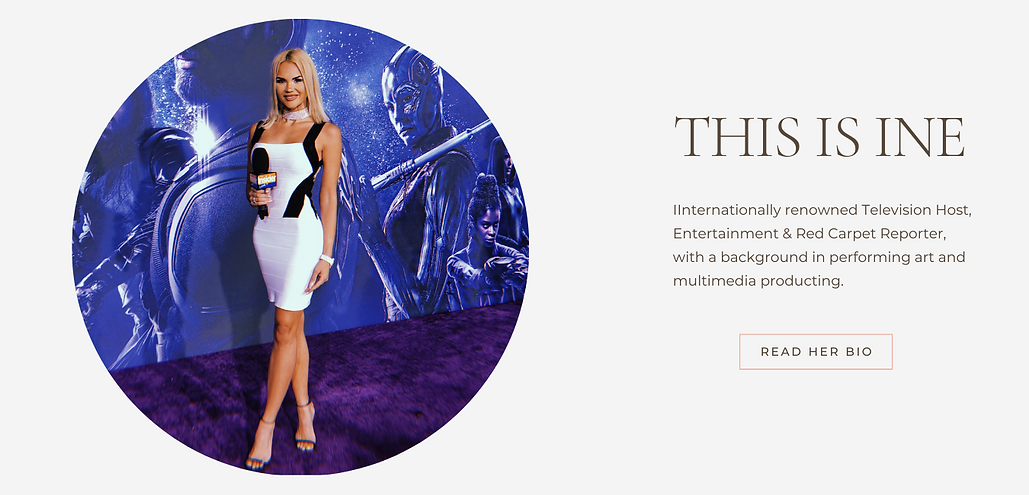 Television Host Ine Back Iversen at Marvle Red Carpet Premiere in Hollywood