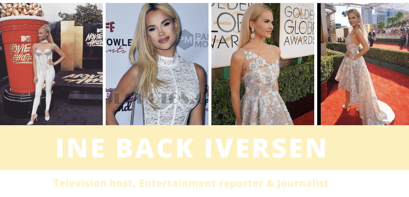 Television Host and Red carpet reporter Ine Back Iversen