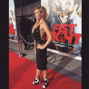 On the red carpet for the premiere of th