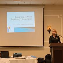 Kris Cameron, Parkinson's Association Speaker