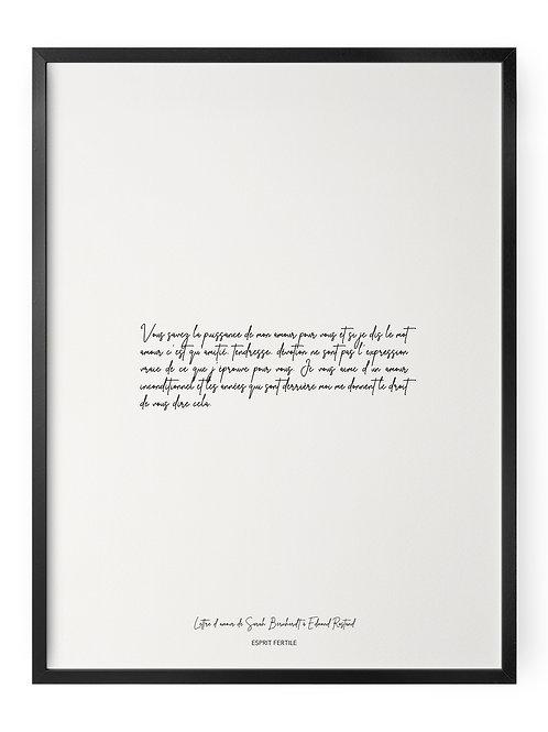 Lettre d'amour de Sarah Bernhardt à Edmond Rostand