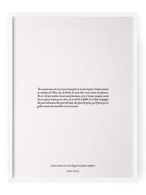 Lettre d'amour de Louis Pergaud à sa femme Delphine