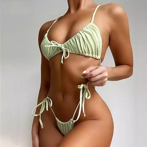Sweetheart  bikini in granny smith apple color