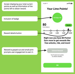 Lime Points Screen