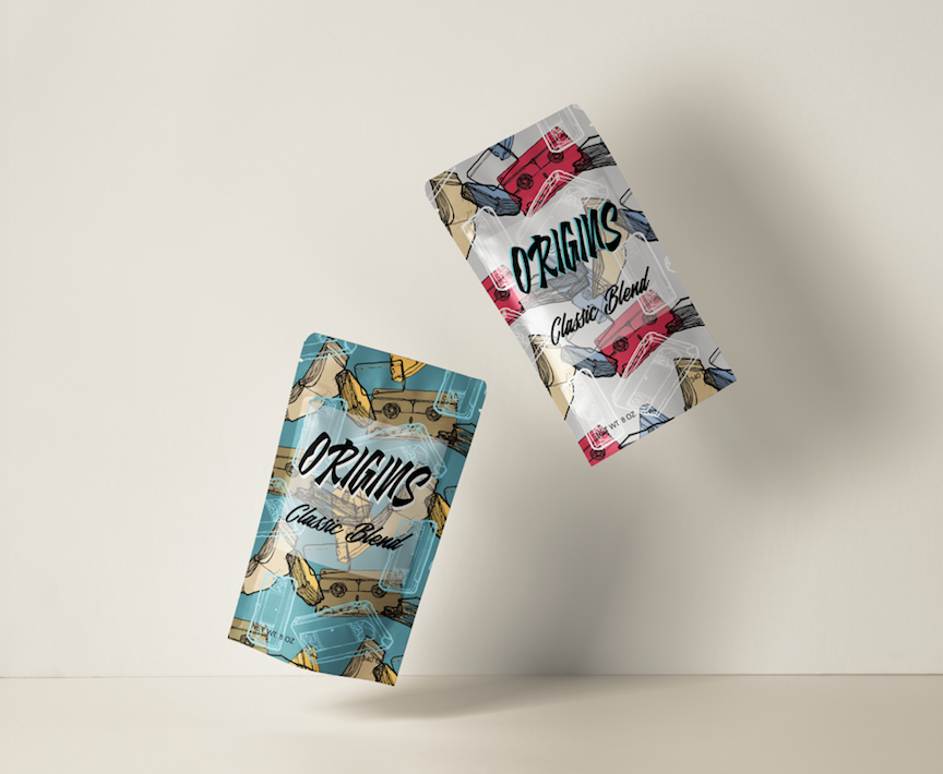 VHS Tapes Coffee bags