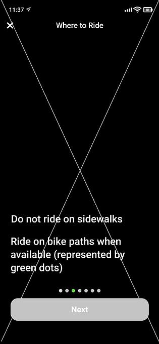 Visual Sidewalk Rules Screen