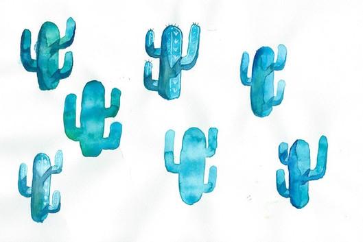 Second watercolor Cacti