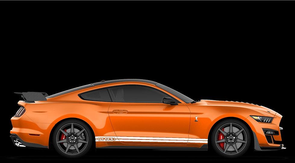 """2020 """"GT500"""" Rocker Area ONLY Stripe Kit"""