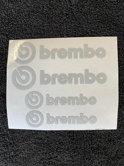 Brembo lettering overlays full set