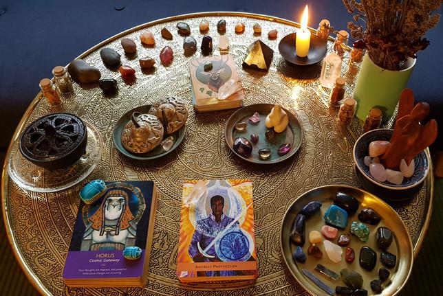 Energy Healing Table set-up