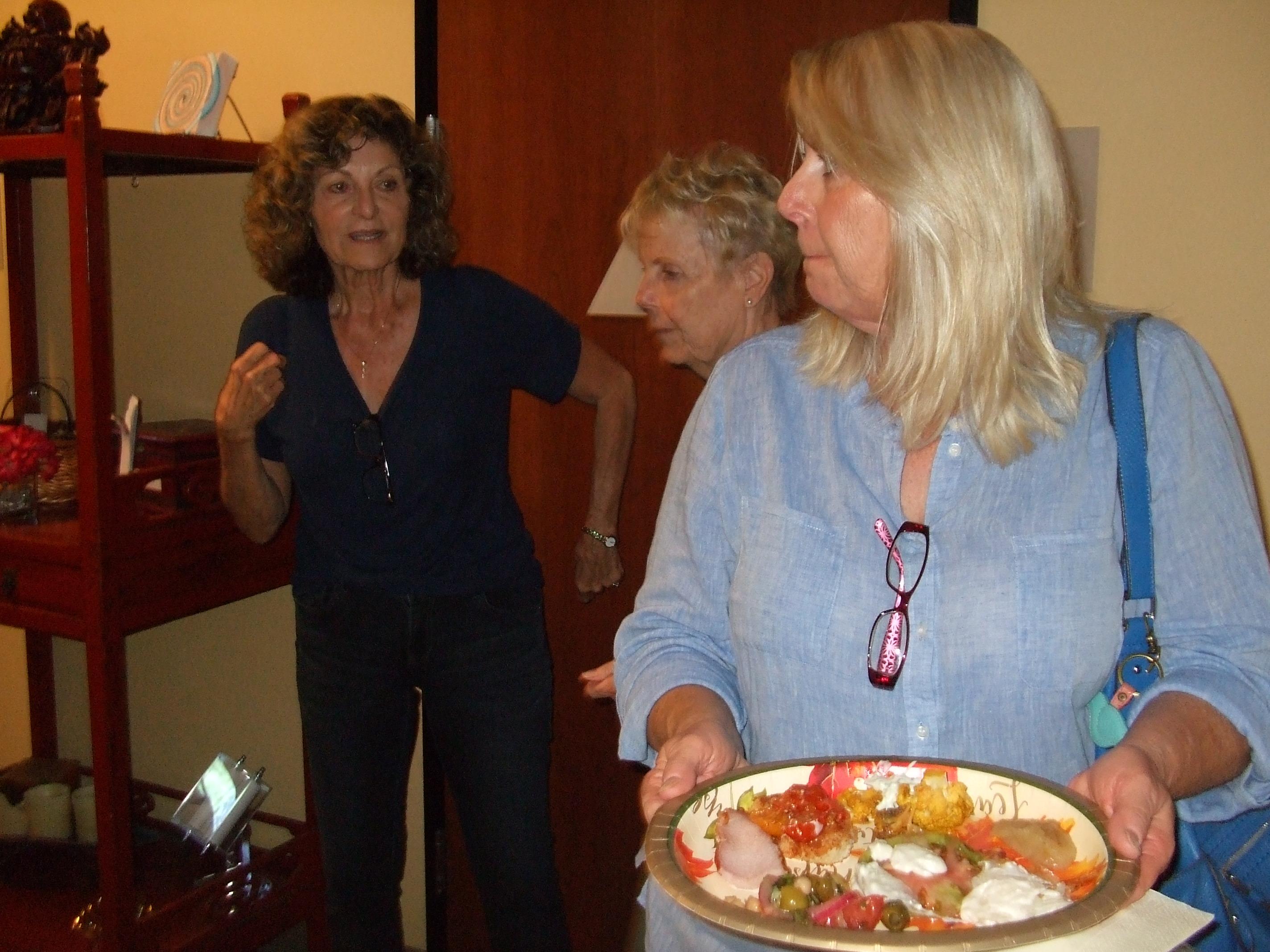Annette making sure we eat food