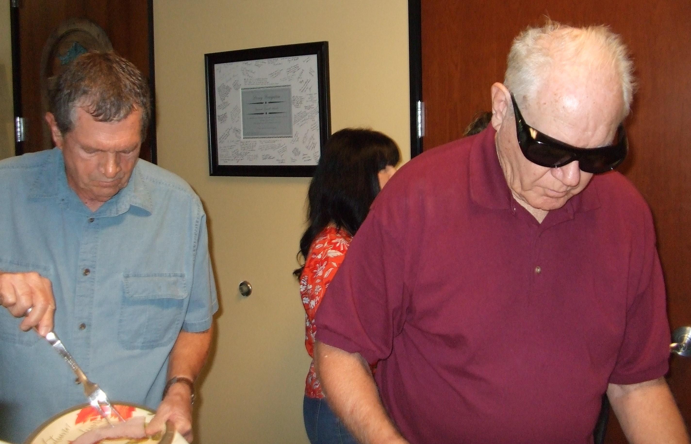 Lyle & Bill working hard