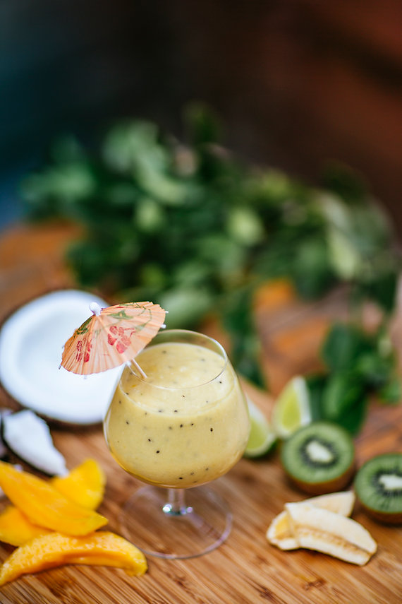 The Coconut Cabana Kiwi, Pineapple and Mango Smoothie with CocoVelle