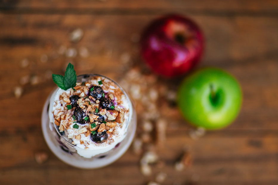 Apple Berry Oats Breakfast Dessert with CocoVelle