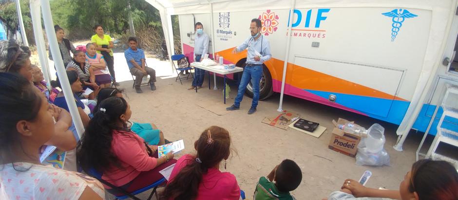 Atención médica gratuita a las y los afectados por las inundaciones en la comunidad de Amazcala