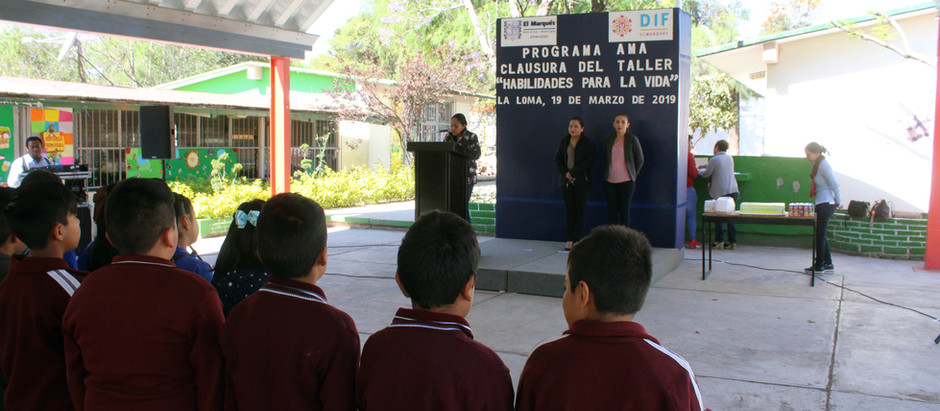 """Clausuran taller de """"Habilidades para la Vida"""