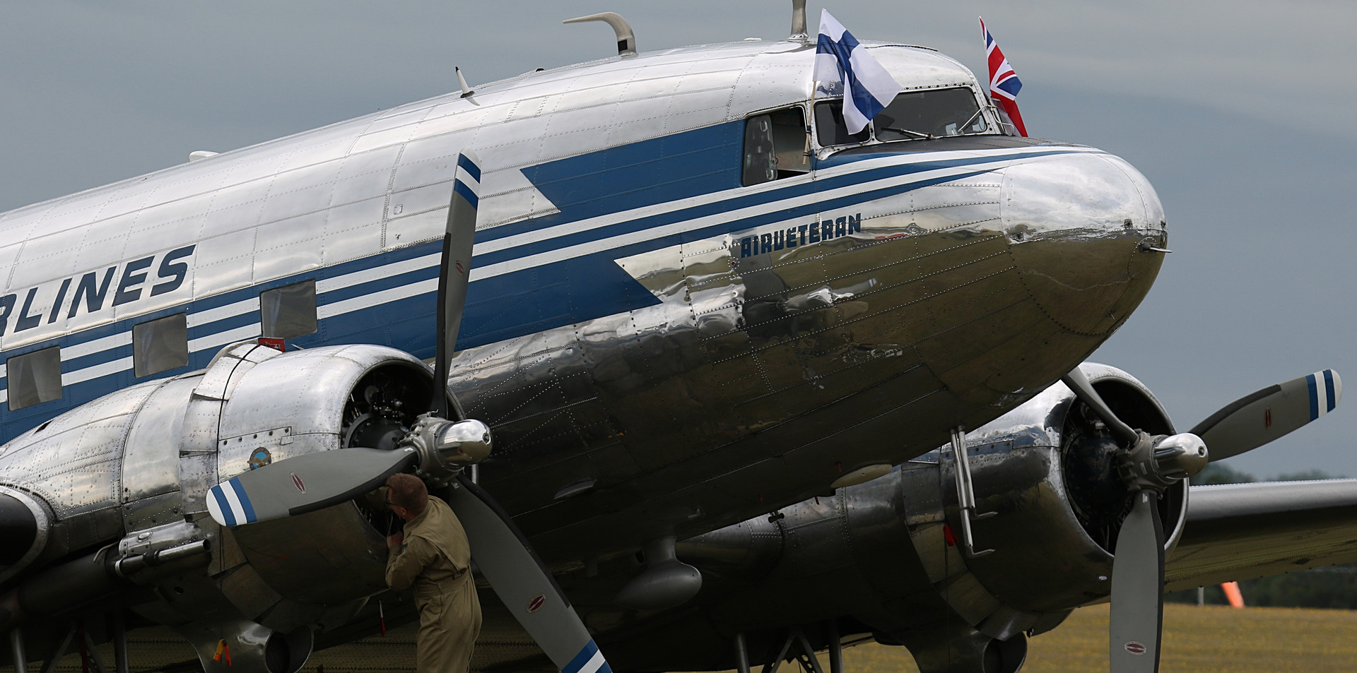 Finnish Airlines Daks over Duxford June